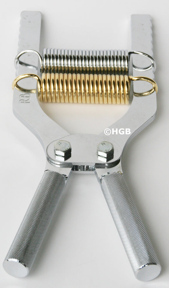 Robert Baraban Chrome Adjustable Hand Gripper 50/500lbs resistance grip strength
