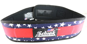 "Schiek Model 2004 Nylon Stars n' Stripes 4.75"" Weight Lifting Belt Made in USA"
