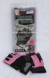 NEW Schiek Weight Lifting 520P Womens Pink Cross Training Gloves Velcro Wrist