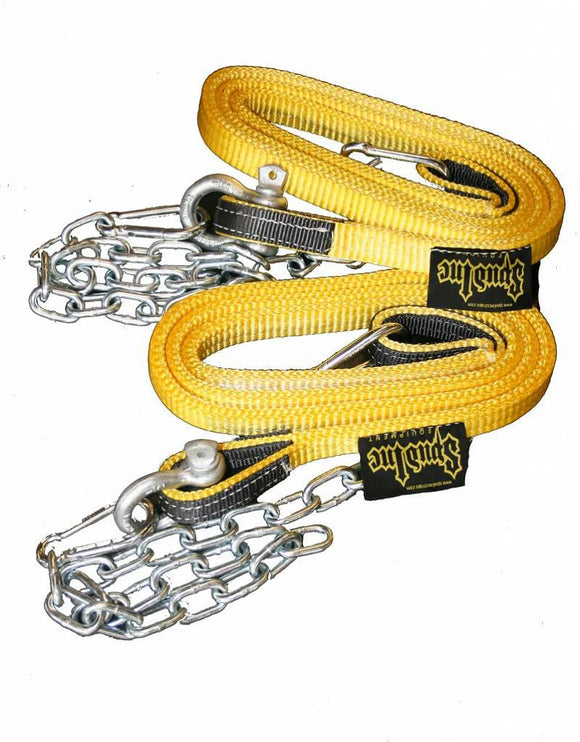 Spud Inc Suspension Straps With Chains -  One pair - Black or Yellow