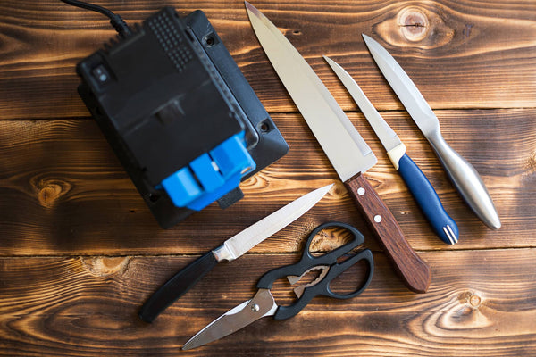 knives on a table