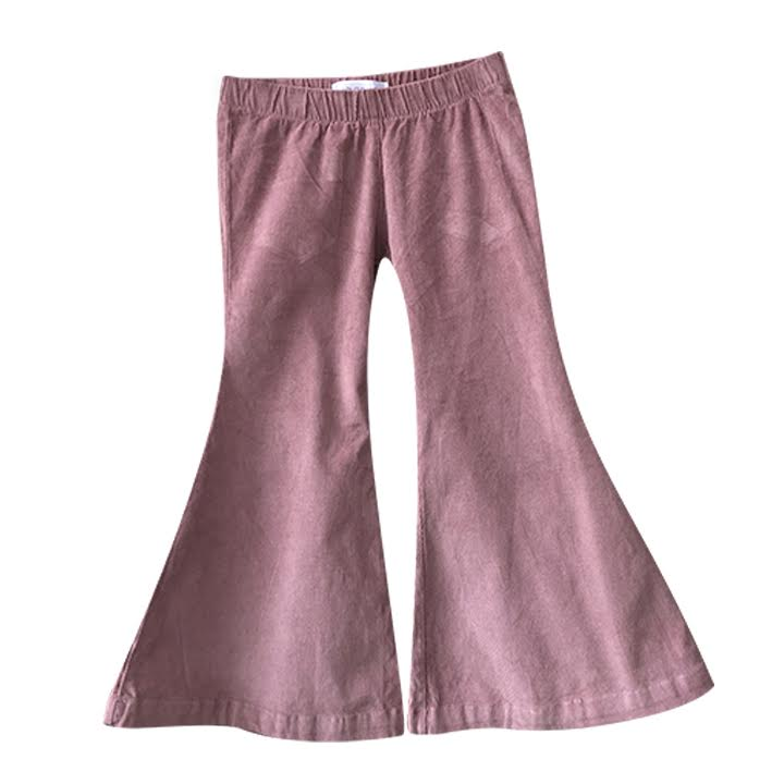 mauve stretch knit bell bottoms