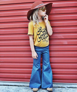 Harlow Jade Light Denim Bell Bottoms