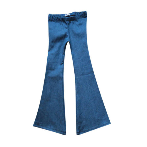 Women's Harlow Jade Blue Denim Bell Bottoms