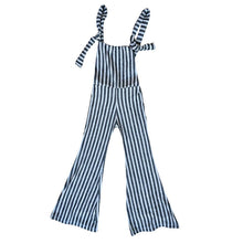 Chelsea Striped Knit Stretch Overalls
