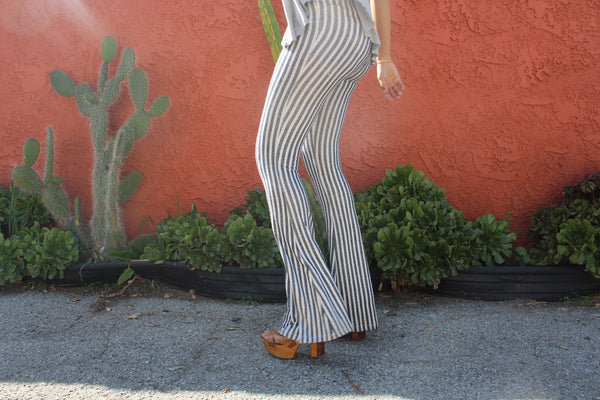 Women's Leia Striped Stretch Knit Bell Bottoms