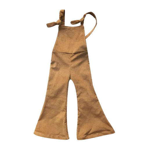 Camel Corduroy Overall Bell Bottoms