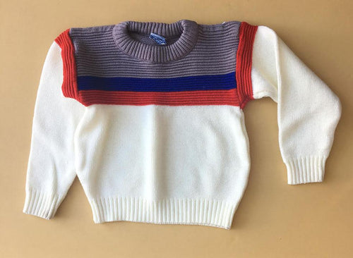 Vintage Color Blocked Sweater 4t