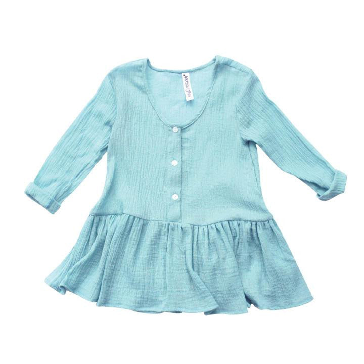 Moon Child Blue Gauze Dress