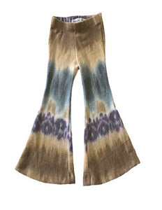 Tie dye women's knit bell bottoms