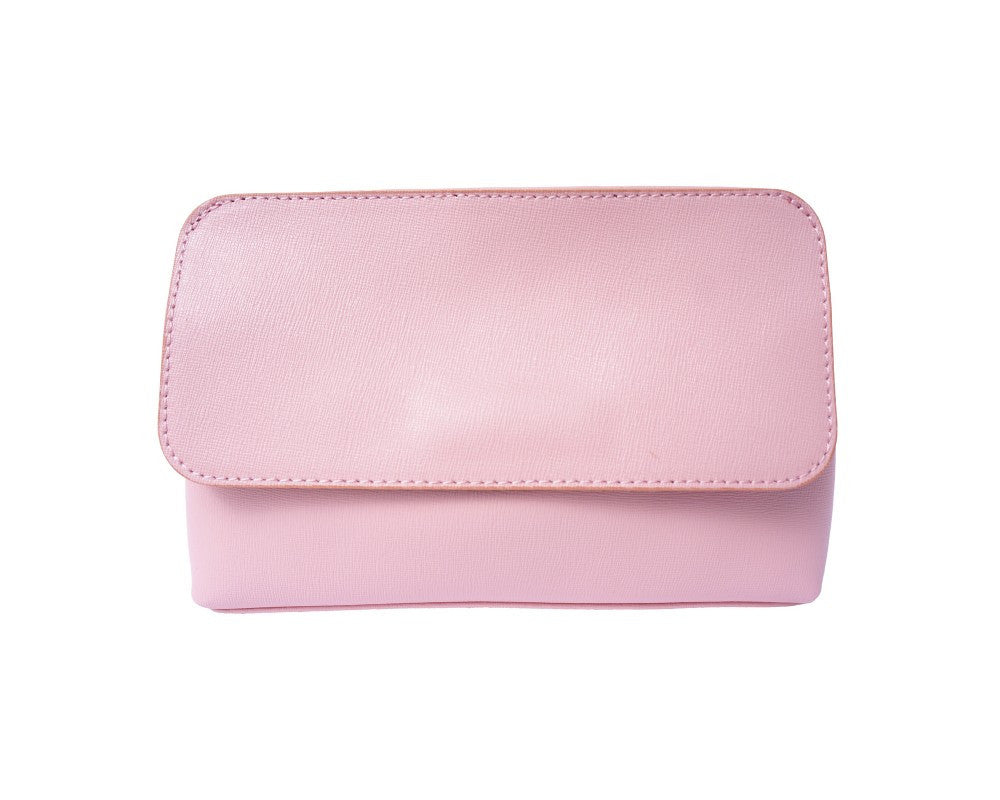 Italian Pochette with removable shoulder strap - Pink