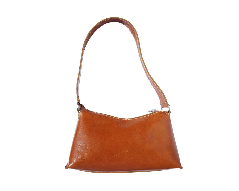 Italian shoulder and handbag with single handle - Leather