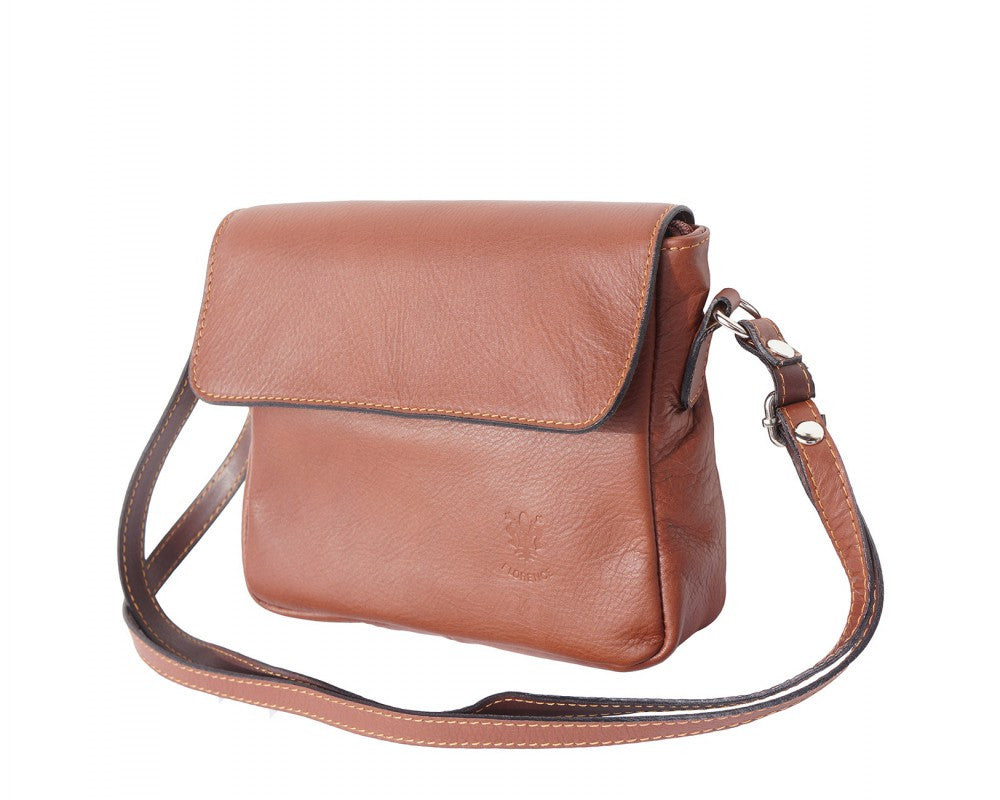 Italian shoulder bag for women - Brown