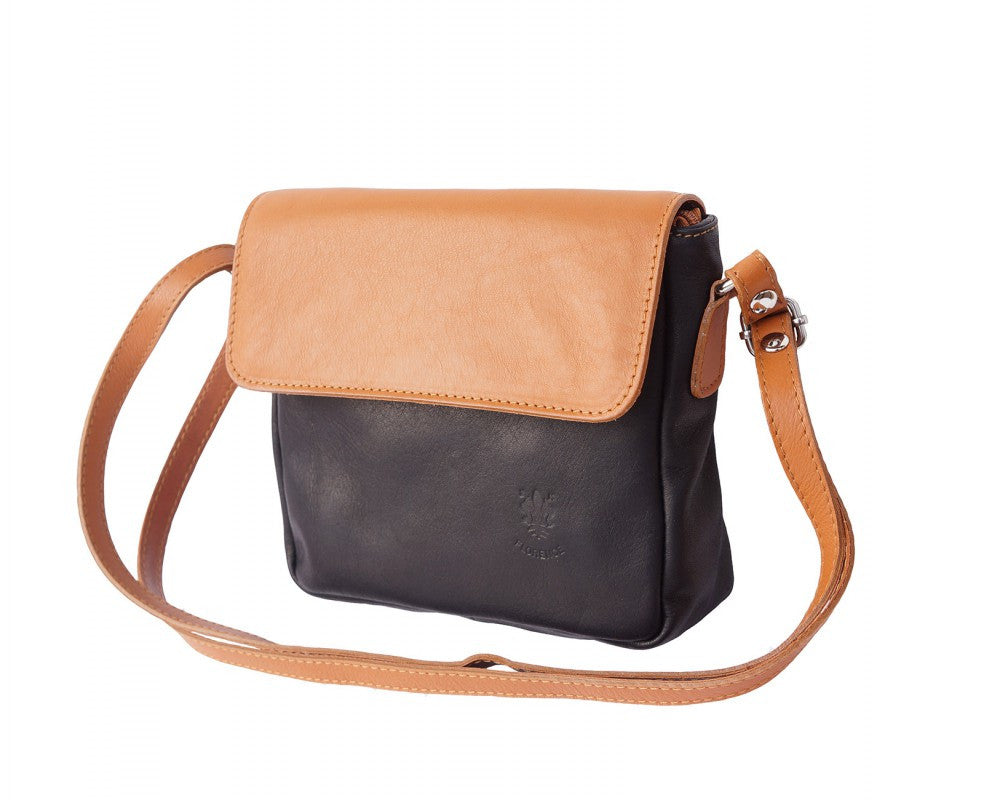 Italian shoulder bag for women - Black/Leather