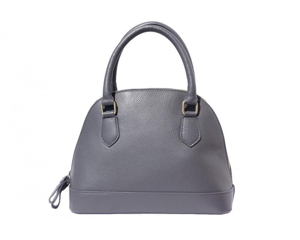 Italian Bowling Tote Handbag for Women - Dark Grey