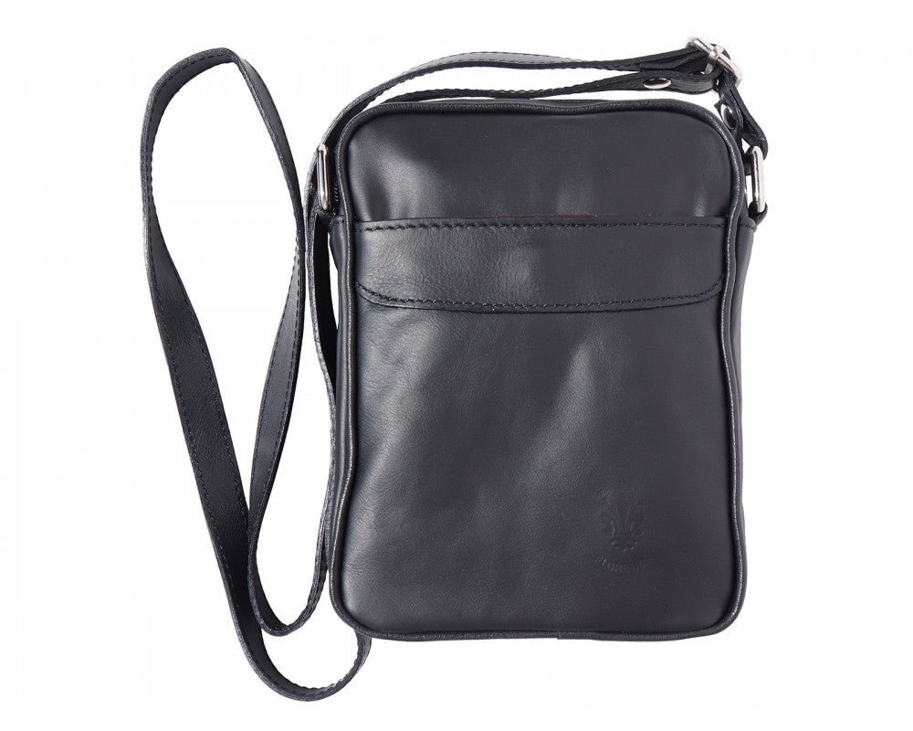 Italian shoulder bag for men - Black