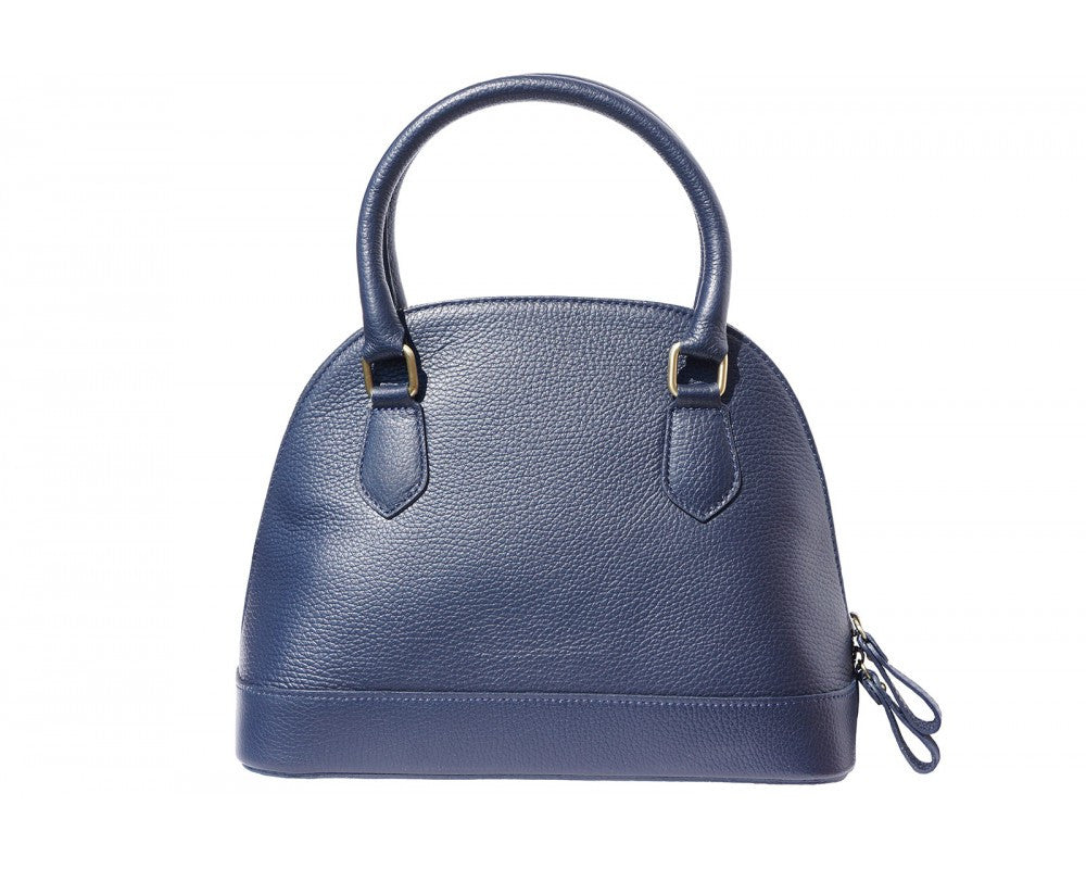Italian Bowling Tote Handbag for Women - Blue