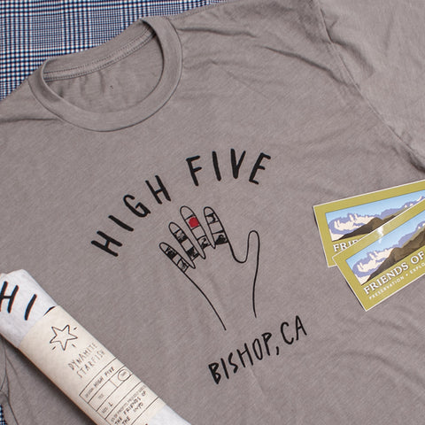 High Five Bishop Tee with proceeds going to The Friends of the Inyo