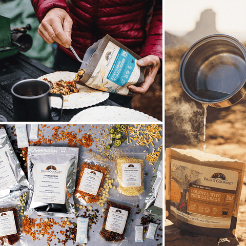 Packit gourmet backpacking dehydrated food