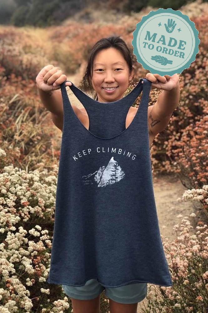 Keep Climbing Mountains — Women's Racerback Tank - Dynamite Starfish