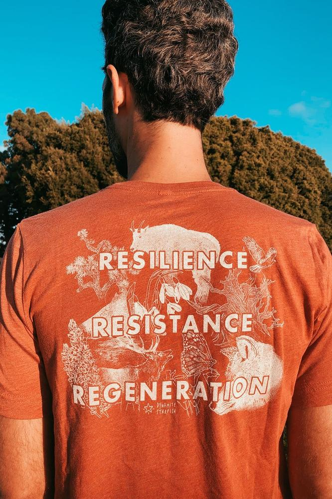 Resilience Unisex Tee — Triblend Redwood - Dynamite Starfish