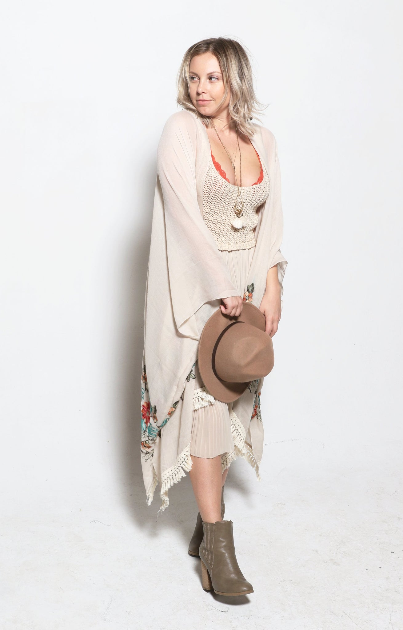 The Magnolia and Vine Kimono- OATMEAL