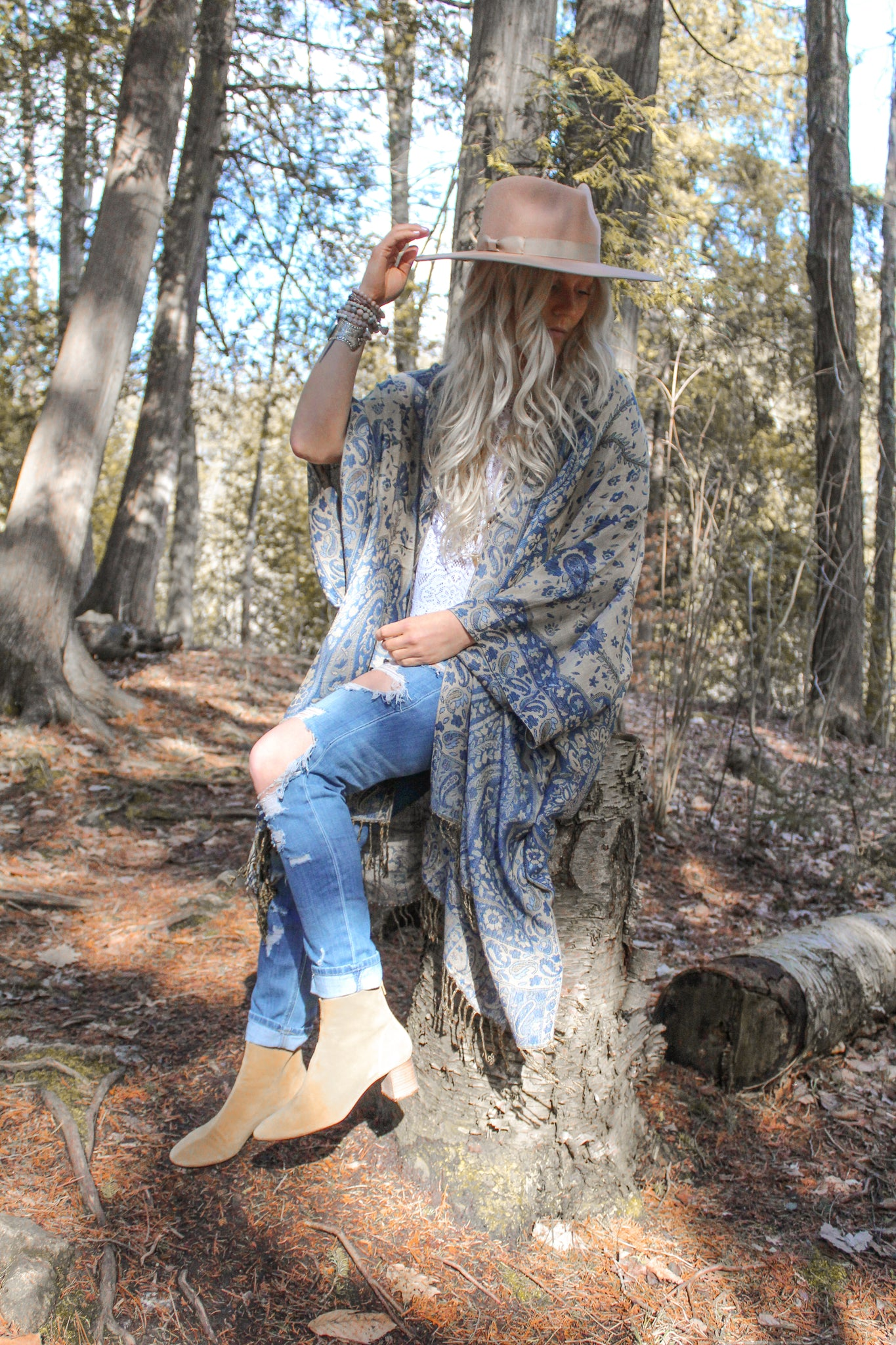 The Denim Project Cotton Kimono- LEVIS
