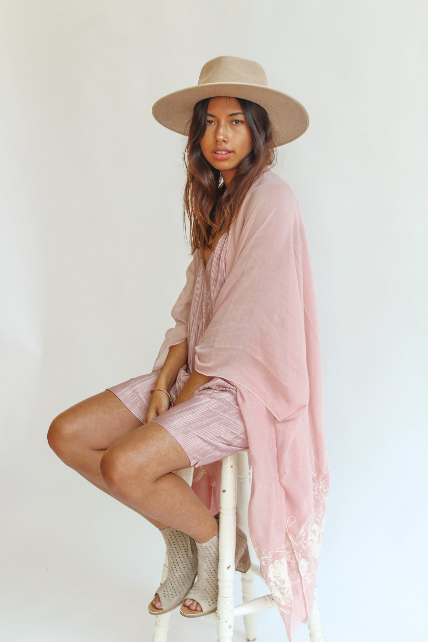 The Lemon and Lace Kimono- B LU S H