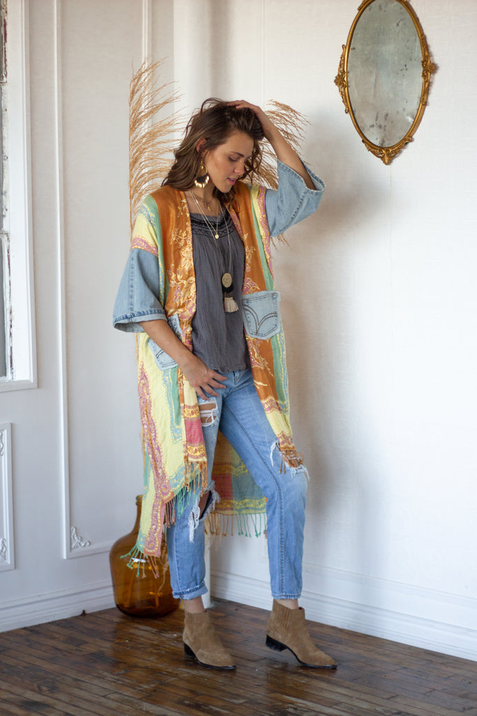 Denim Project: Pastel Rainbow- Lightwash