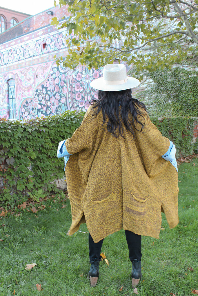 Denim Project: ARTFUL AUTUMN // Marbled Mustard Knit C