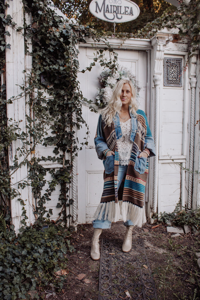 Denim Project: ARTFUL AUTUMN // Boho Stripe B