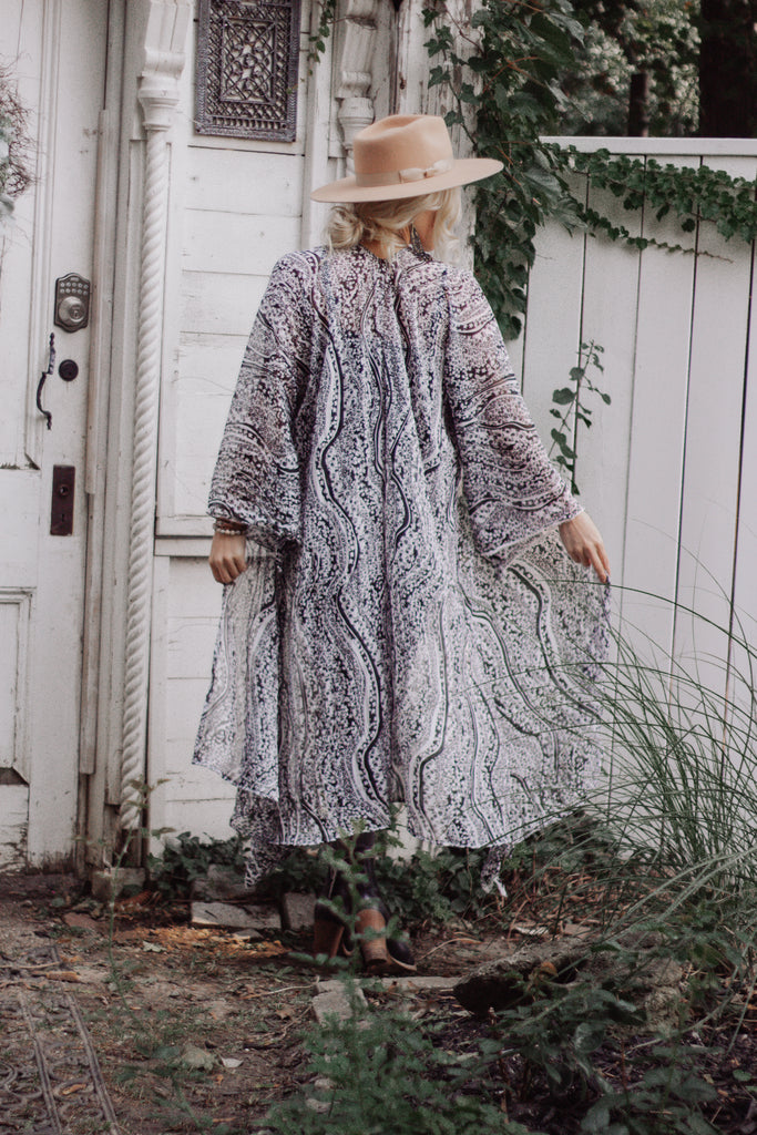 The Loved Textile duster - PAISLEY BELL SLEEVE