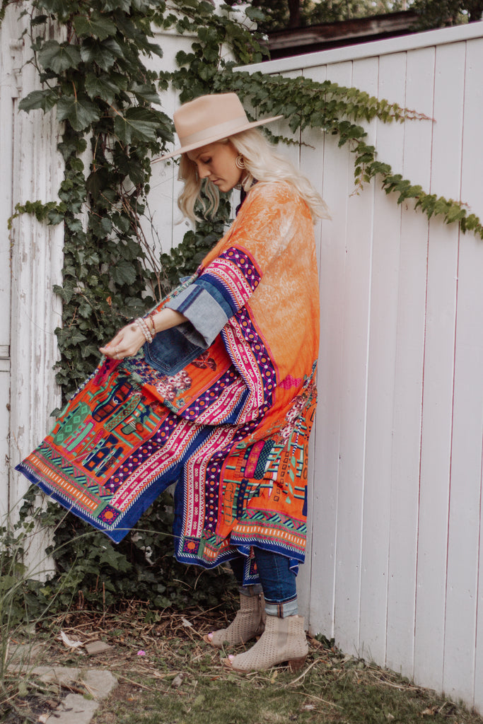 Denim Project: Boho- TANGERINE