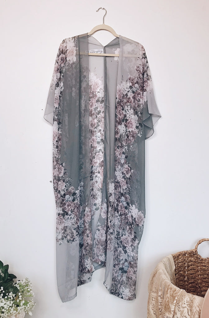Duster: Smell the Roses Kimono - S L A T E