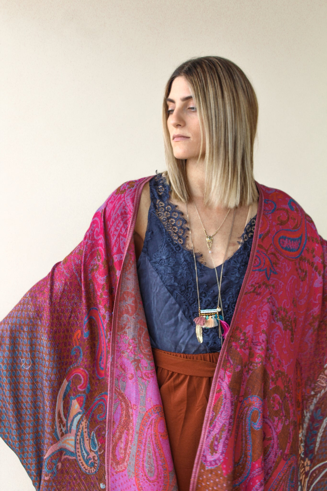 The Luna Border Kimono- EARTH