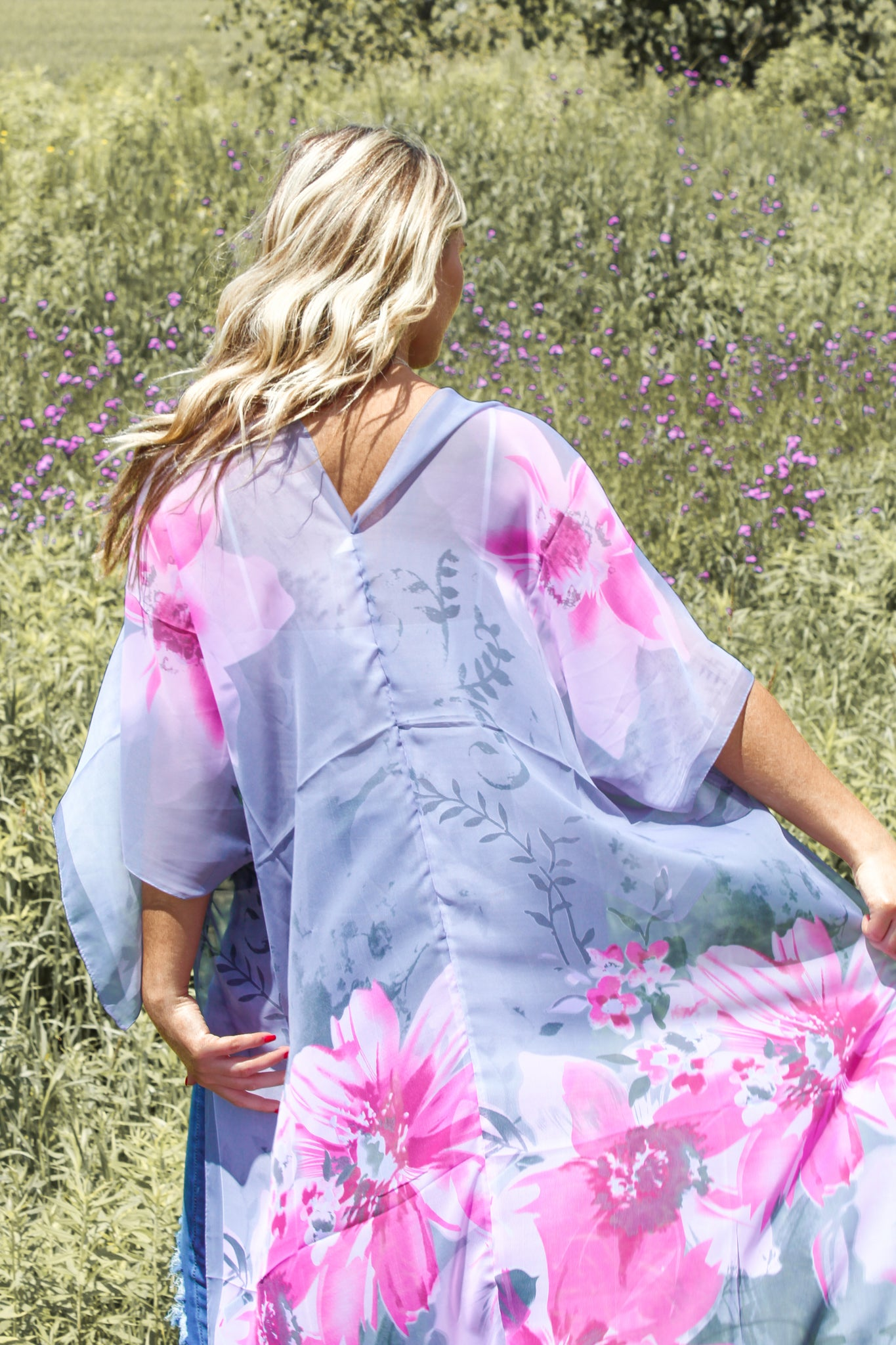 The Lovers Land High-Low Duster - D O V E