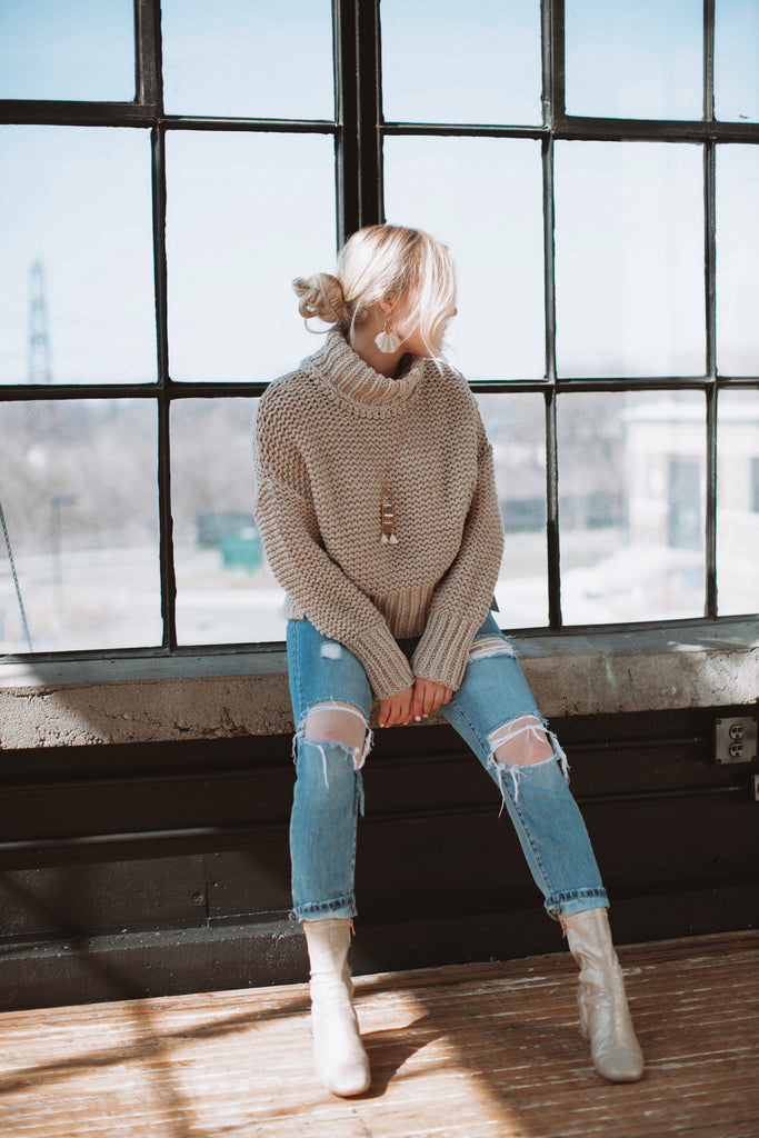 Free People My Only Sunshine Knit - BLEACHED PINE