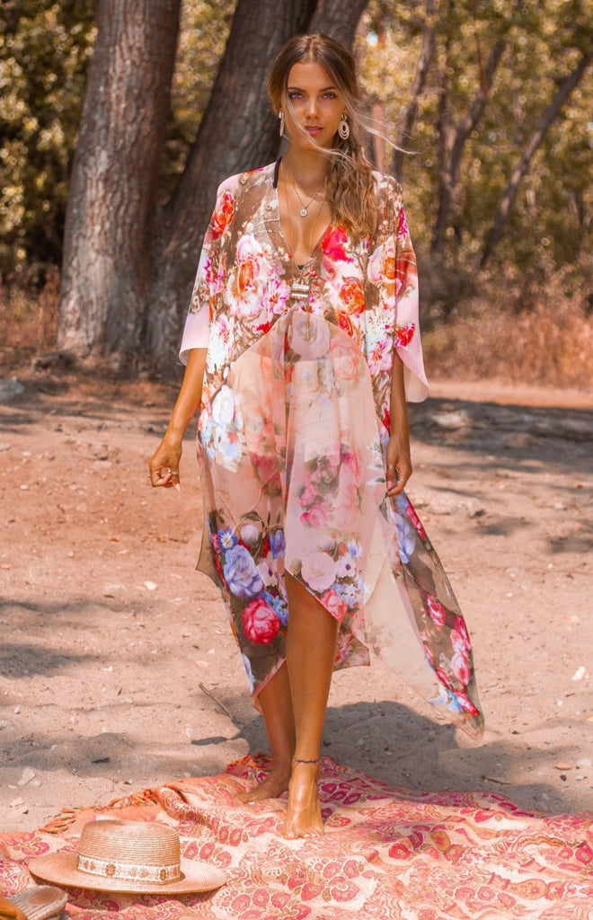 Beach Bliss Kaftan - WATERCOLOUR SUMMER