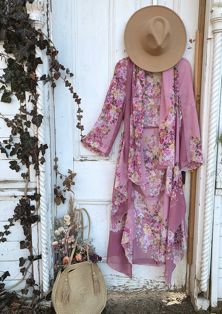 Little wing maxi jacket : smell the roses - R O S E