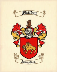 Hand painted family coat of arms