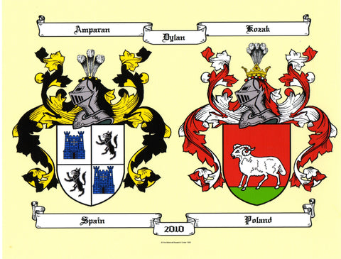 Double color coat of arms