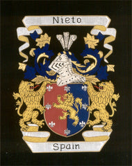Hand embroidered coat of arms