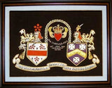 "11"" x 14"" Irish Claddagh Hand Embroidery Coat of Arms"