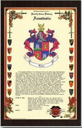 "11"" X 17"" Celebration History & Coat of Arms W/Free US S&H"