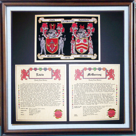 Anniversary Embroidery coat of arms family crest