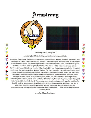 Email Only Clan Badge,  Clan Tartan,  & Clan History Scottish Names Only