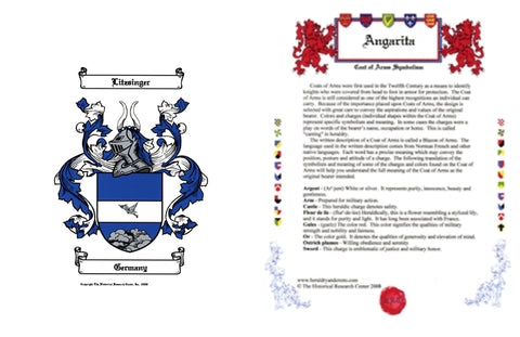 Email Only JPEG PDF Tiff or PNG Coat of Arms & Symbolism 2 Pages