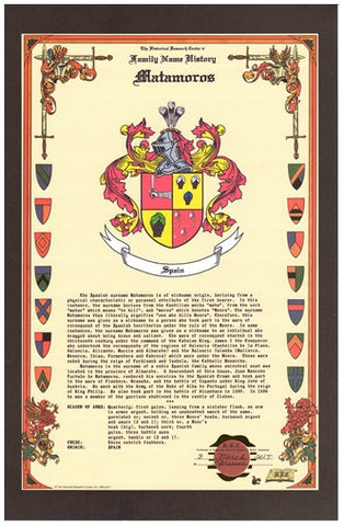 Celebration Coat of Arms & History Research-Names not in the Data Base