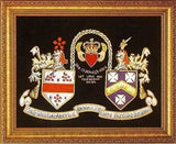 "14"" x 18"" Irish Claddagh Hand Embroidery Coat of Arms W/Free US S&H"