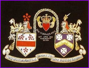 Irish Claddagh Embroidery Coat of Arms